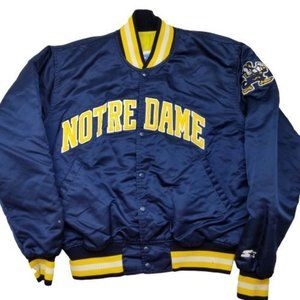 Notre Dame VTG Starter Satin Jacket Large Damage